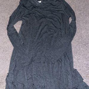 Flowy ruffle long sleeve dress